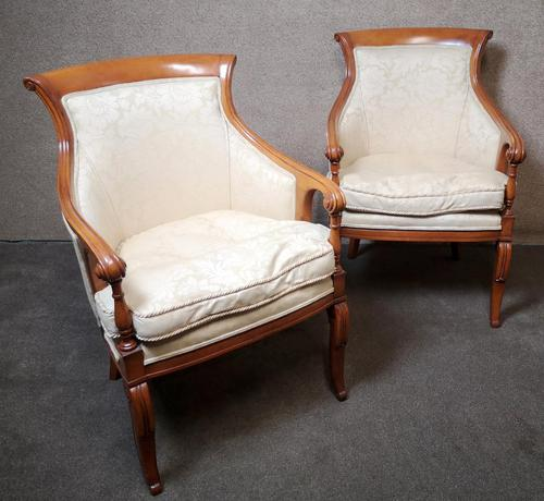 Pair of French Empire Style Armchairs (1 of 13)