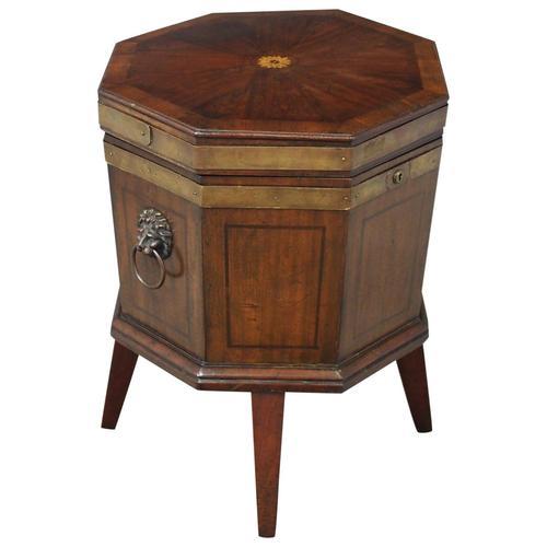George III Inlaid Mahogany Octagonal Wine Cooler (1 of 11)