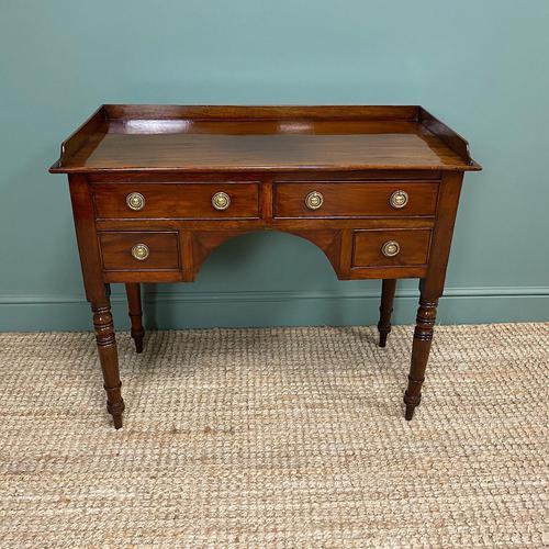 Elegant Victorian Mahogany Antique Writing Table (1 of 5)