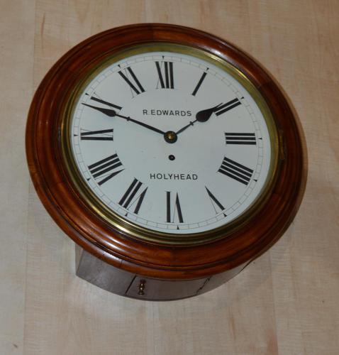 Robert Edwards Holyhead Fusee Dial Wall Clock (1 of 4)
