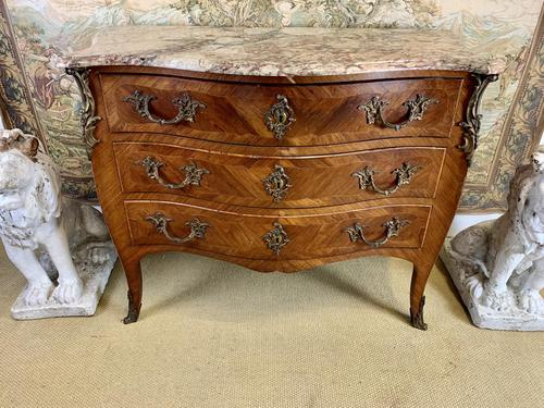 French 19th Century Kingwood Commode with Marble Top (1 of 6)
