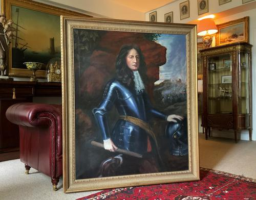 Huge Oil Portrait Painting 'King William III' After Sir Peter Lely (1 of 13)