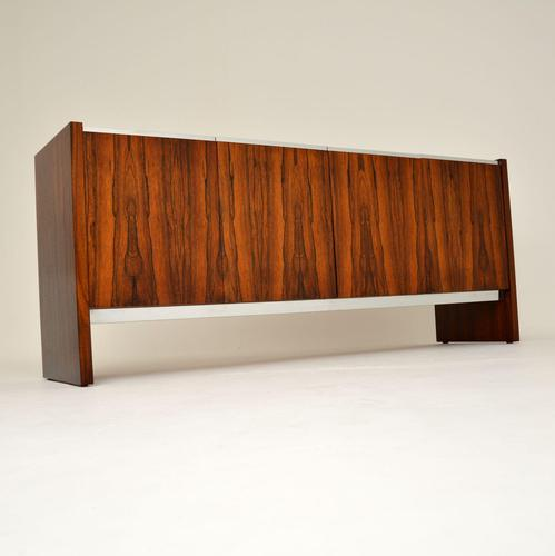 Merrow Associates Rosewood & Chrome Sideboard by Richard Young (1 of 13)