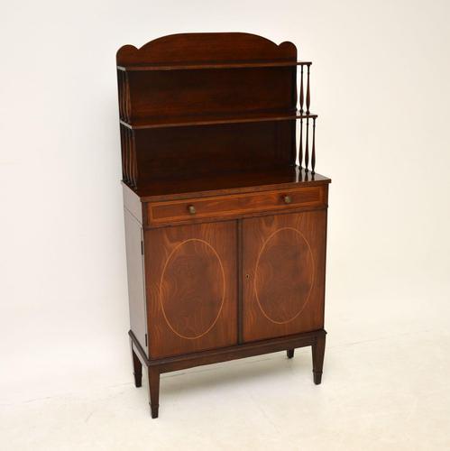 Antique Sheraton Style Inlaid Mahogany Bookcase / Cabinet (1 of 12)