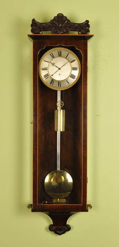 Early Biedermeier Vienna Regulator Wall Clock - Silk Suspension (1 of 7)