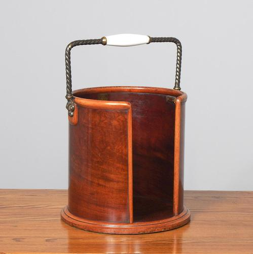 Victorian Mahogany Plate Bucket by Hussey's (1 of 8)