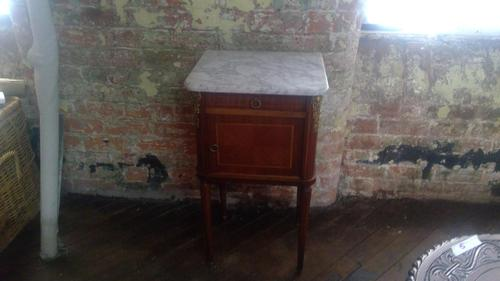 French Marble Top Bedside Table (1 of 3)