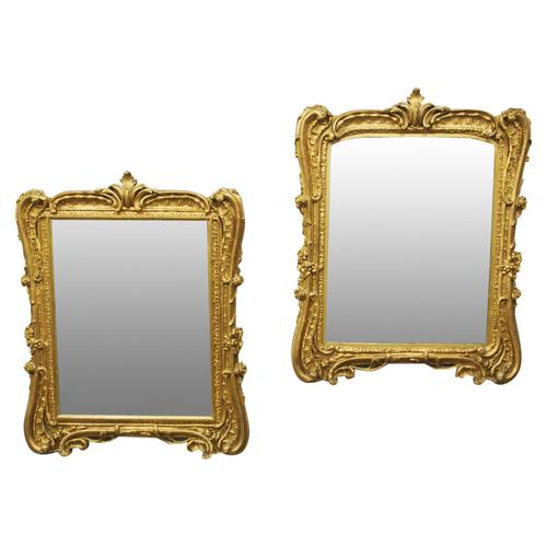 Pair of Victorian Gilded Mirrors (1 of 12)