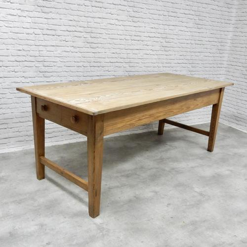 Large Farmhouse Pine Kitchen Table (1 of 9)
