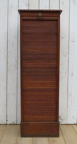 Oak Tambour Front Filing Cabinet (1 of 7)