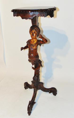 Italian Carved Limewood Torchere (1 of 8)