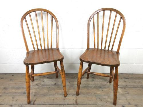 Pair of Antique Hoop Back Farmhouse Chairs (1 of 13)