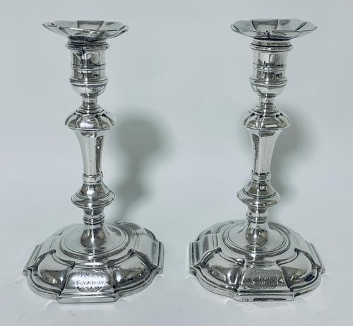 Pair of Antique Georgian 18th Century Solid Sterling Silver Candlesticks (1 of 23)
