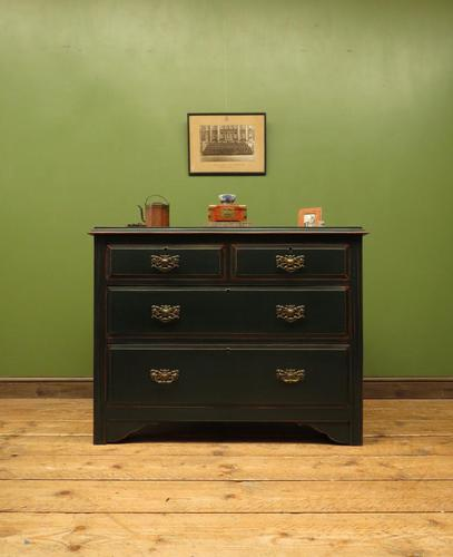 Green Painted Chest of Drawers, Shabby Chic Chest of Drawers (1 of 15)