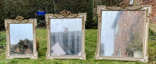 Set of Three Painted & Gilt Mirrors (1 of 9)