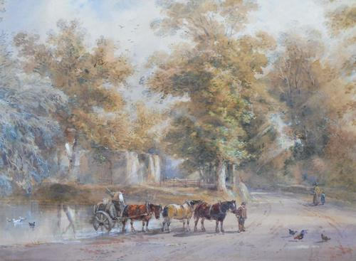 Watercolour English Countryside Listed Artist Henry Earp Senior (1 of 10)
