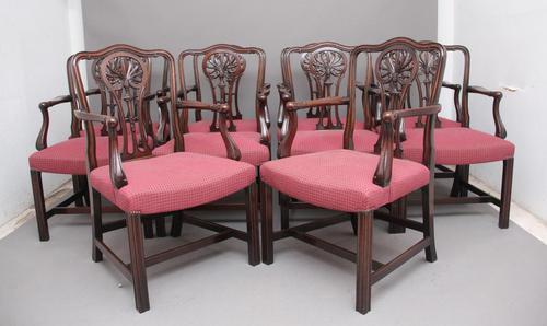 Set of Ten Mahogany Armchairs by Alfred Allen of Birmingham (1 of 13)
