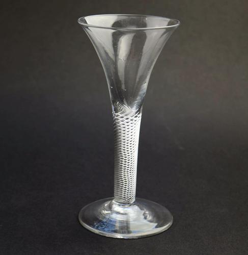 Fine Antique Georgian Stemware Drawn Trumpet Wine Glass Multi Twist 18th Century (1 of 8)