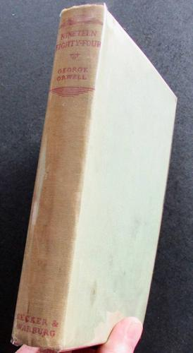 1949 1st Edition Nineteen Eighty Four -  A Novel by George Orwell (1 of 5)