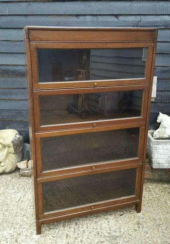 Antique Four Tier Solicitors Stacking Bookcase (1 of 4)