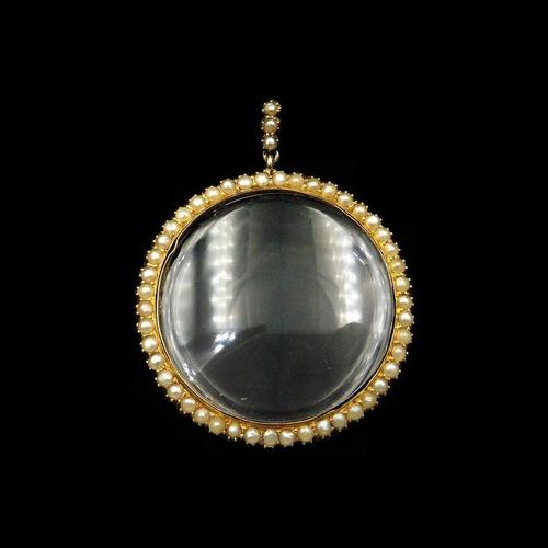 Antique Victorian Pearl Round 9ct 9K Yellow Gold Shaker Locket Pendant (1 of 10)