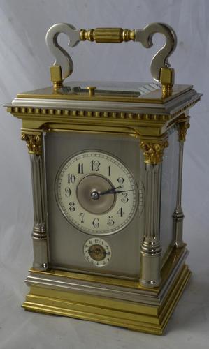 Bi Metal Strike / Repeat / Alarm Carriage Clock (1 of 6)