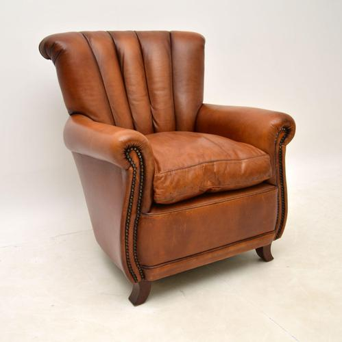 French Style Leather Club Armchair (1 of 6)