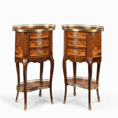 Pair of French Rosewood Occasional Tables (1 of 8)