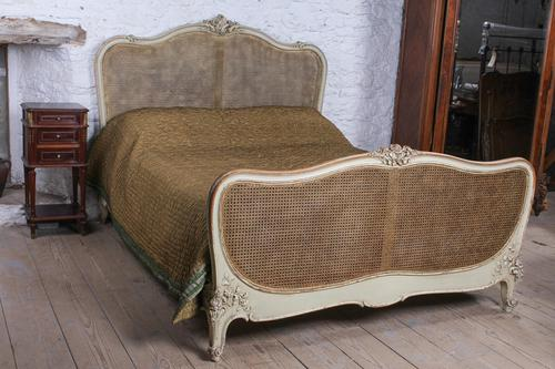 Lovely French King Size Caned Bed (1 of 9)