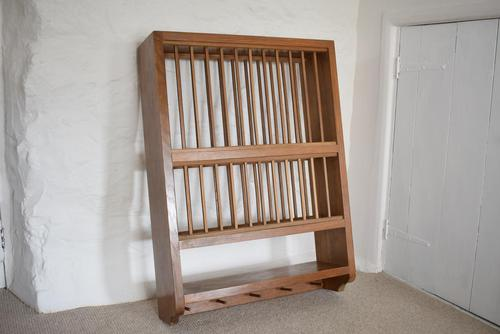 Solid Oak Wall Mounted Plate Rack (1 of 10)