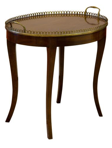 Oval Mahogany Occasional Table with Brass Gallery (1 of 5)