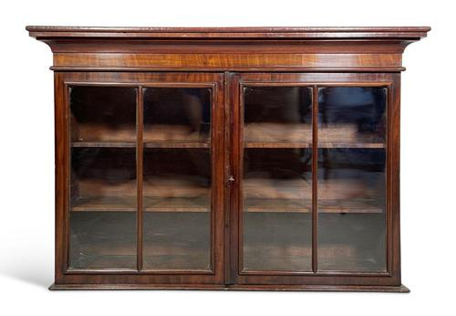 Mahogany Wall Cabinet with Original Glass (1 of 5)