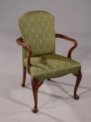 Shapely Early 20th Century Walnut Framed Armchair (1 of 5)