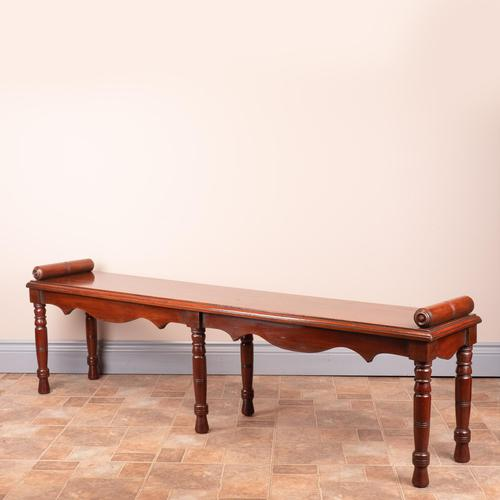 Large Late Victorian Mahogany Hall Bench Window Seat (1 of 11)