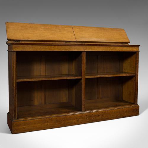Large Antique Library Bookcase, Scottish, Oak, Bookshelf, Cabinet, Victorian (1 of 12)