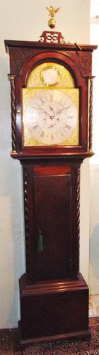 Georgian Scottish Cuban Mahogany Longcase Clock (1 of 10)