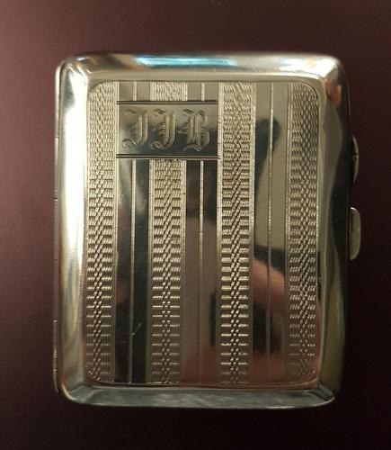 Antique Sterling Silver Cigarette Case - 1932 (1 of 4)