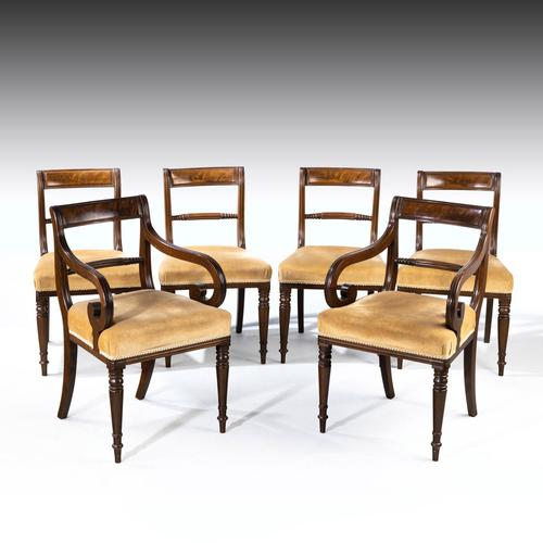 Good Set of Regency Period 4+2 Mahogany Framed Chairs (1 of 4)