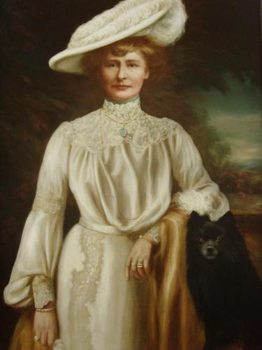 Oil Portrait Lady Dunbar Of Mochrum by John Horsburgh 1835-1924 Large Paintings (1 of 12)