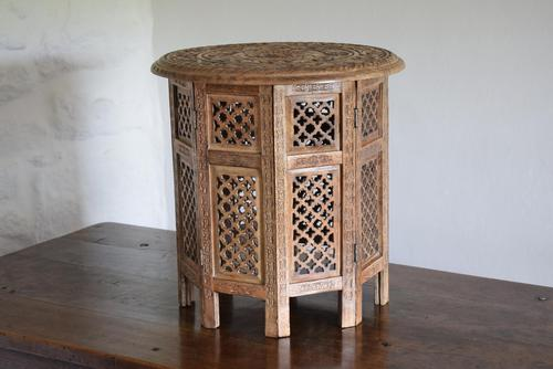 Anglo Indian Table with Circular Carved Top (1 of 10)