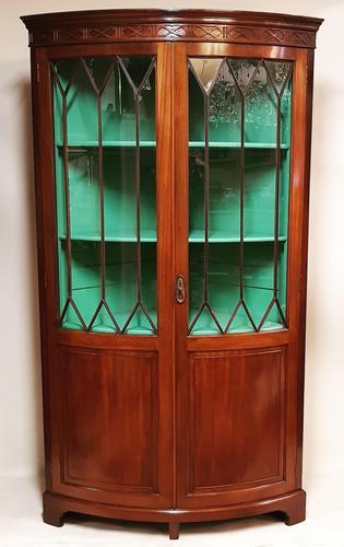 Antique Edwardian Mahogany Corner Cabinet (1 of 5)