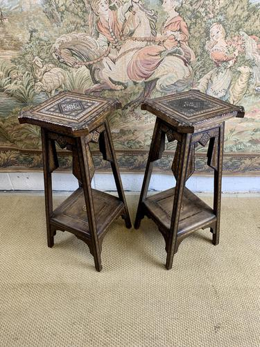 Pair of 19th Century Inlaid Stands (1 of 7)