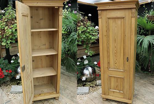 Fabulous Old Stripped Pine Cupboard / Wardrobe (1 of 11)