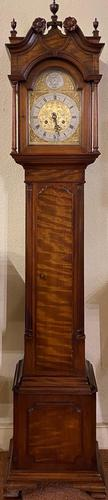 Carved Walnut Grandmother Longcase Clock (1 of 7)