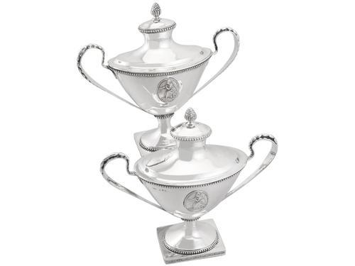 Swedish Silver Sauce Tureens - Antique 1791 (1 of 15)
