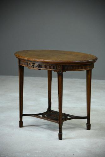 Antique Oval Centre Table (1 of 9)