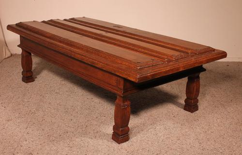 Coffee Table Made With An Old 17th Century Spanish Door In Chestnut (1 of 9)