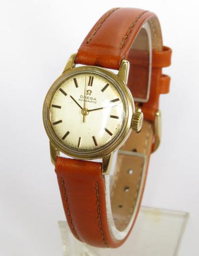 Ladies 9ct Gold Omega Wrist Watch, 1968 (1 of 5)