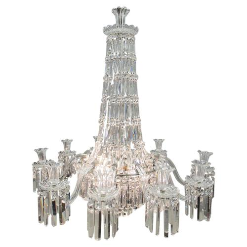 19th Century Crystal Tent & Waterfall Chandelier (1 of 18)