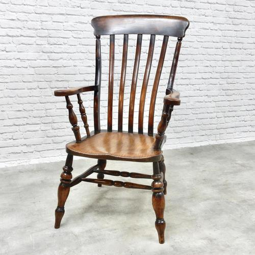 Large Windsor Lathback Armchair c.1890 (1 of 8)